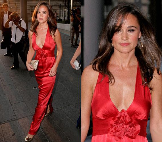 Ezt a vörös estélyit 2011 októberében viselte: egyik legdögösebb ruhája volt.