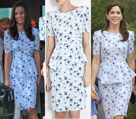Pippa Middleton és Mária dán hercegné is karcsú, hosszú barna hajú, szép nő. Nehéz eldönteni, ki volt a csinosabb.