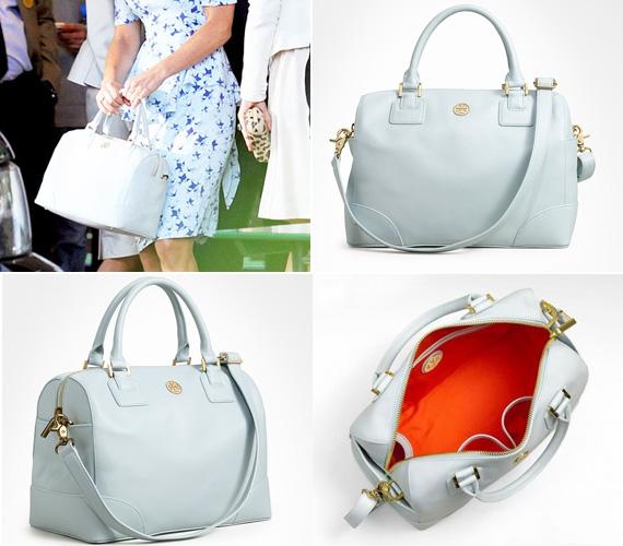 A táskát Tory Burch tervezte, és Sky Blue név alatt lehet kapni.