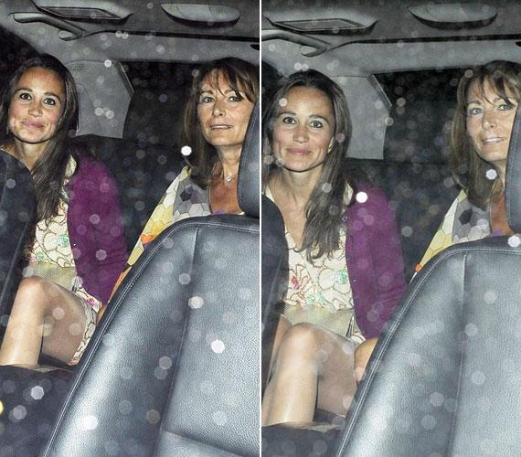 Anya és lánya: a lesifotósok még akkor sem tágítottak, amikor beszálltak az őket váró taxiba.