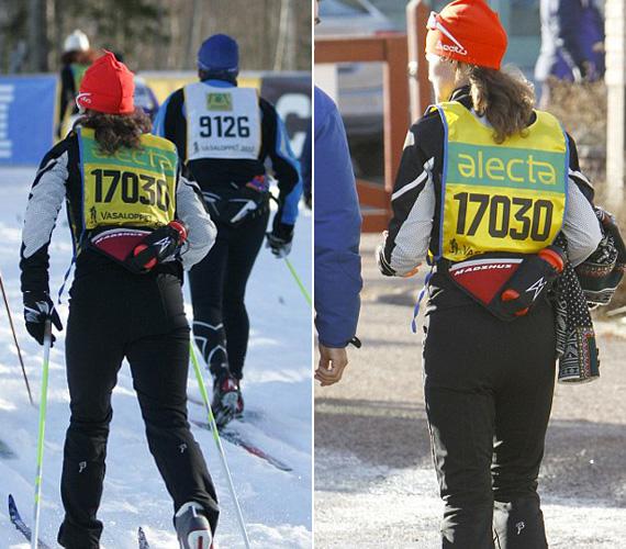 A kimerítő maraton közben a fotósok természetesen nem felejtették el hátulról sem fotózni Pippát.