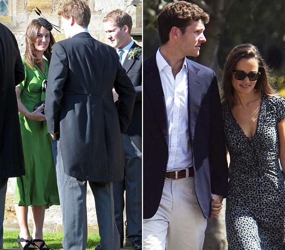 Pippa - mindenkit meglepve - mellélőtt a ruhaválasztással, ráadásul férfi kísérő nélkül érkezett, pedig elhívhatta volna jóképű barátját, Alex Loudont.
