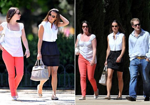 Hármasban sétálgattak az utcán, közben pedig élvezték a napsütést.