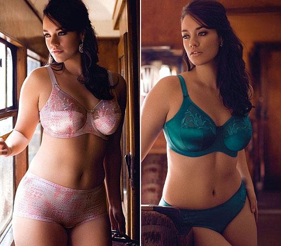 Végre a divatcégek is felfedezték, hogy a teltkarcsú fogyasztók is igénylik a szép, szexi fehérneműket, ruhákat, amelyek nem csak egy csontsovány modellen mutatnak jól.