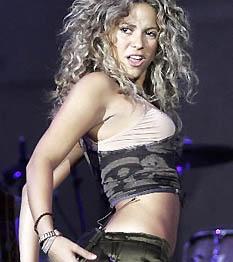Shakira szemrevaló idomai