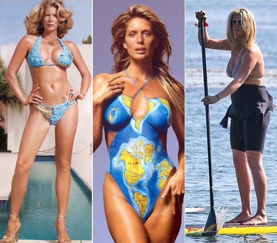 Rachel Hunter 1994-ben volt a legendás Sports Illustrated magazin címlaplánya, azóta alakja kissé megváltozott.