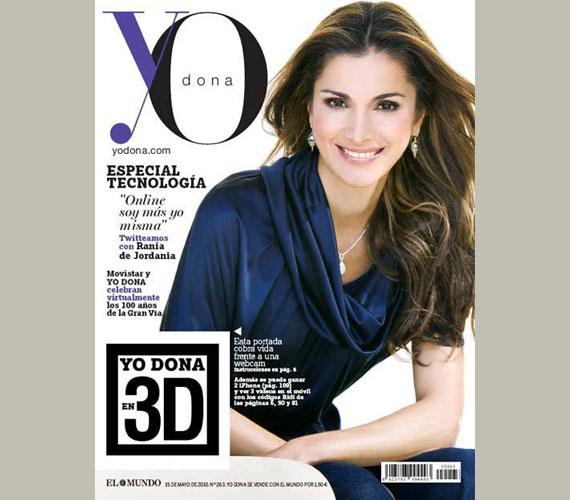 A 43 éves Rania jordán királynét a világ egyik legszebb koronás főjének tartják. Májusban a spanyol Yo Dona címlapján lesz látható.