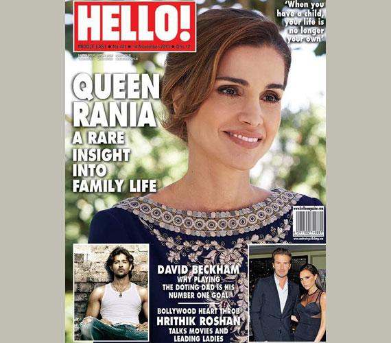 A Hello! magazin Egyesült Arab Emírségekben megjelenő kiadásának címlapján 2013 novemberében.