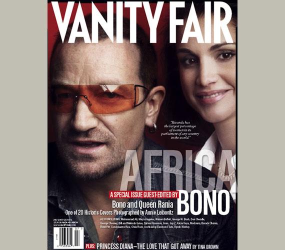 Vanity Fair címlapján osztozott már a szintén híresen jótékony Bonóval is.