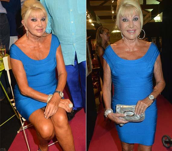 A 63 éves Ivana Trump is szereti a testhez simuló ruhákat.