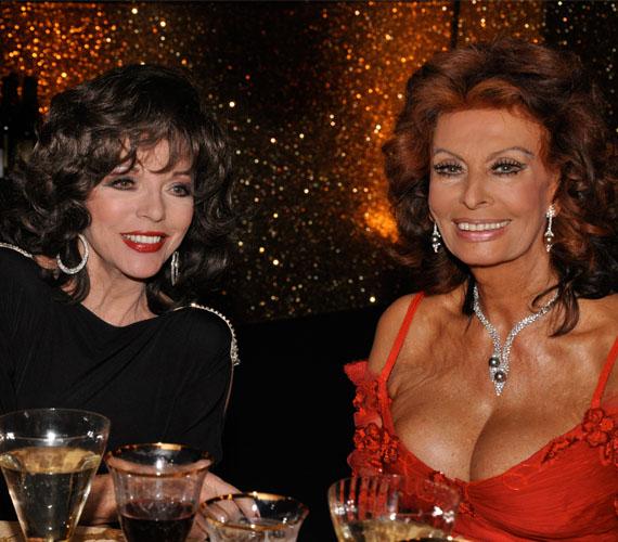 Joan Collins barátnője, Sophia Loren is kora egyik szexszimbóluma volt. Az idővel és a ruhákkal neki is meggyűlik olykor a baja.