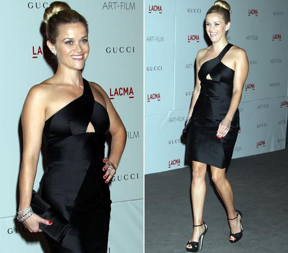 Az eseményt a Gucci támogatta, így a sztárok többsége a divatház ruháit viselte, ám Reese a Cushnie et Ochs-nál választotta fekete minijét.