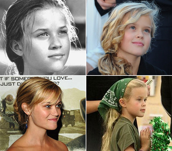 Ugyanaz az álmodozó tekintet, szőke haj, arcforma és jellegzetes áll.