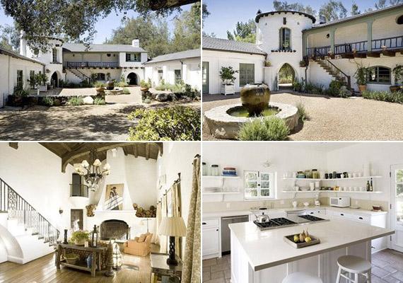 Míg a ház előző lakója a színes berendezést részesítette előnyben, addig Reese az egyszerű, visszafogott színek és formák mellett döntött - mindenhol a fehér dominál.
