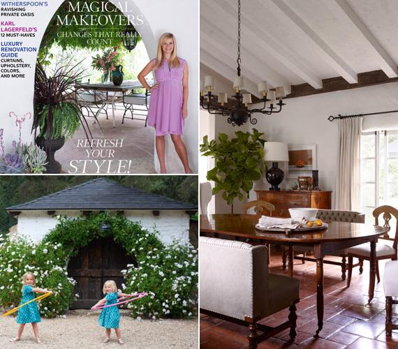A rusztikus stílus mind a házban, mind a szabadban visszaköszön, csakúgy, mint a sok zöld és virágos növény.