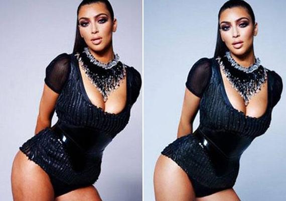 Kim Kardashian nem volt felháborodva, hogy jó pár kilót lefaragtak róla.
