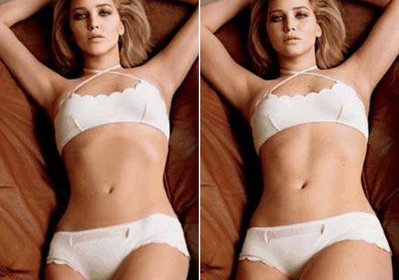 Jennifer Lawrence teljesen kiakadt, amikor Photoshoppal karcsúsították. Talán ő az egyedüli színésznő, akit ez zavar.