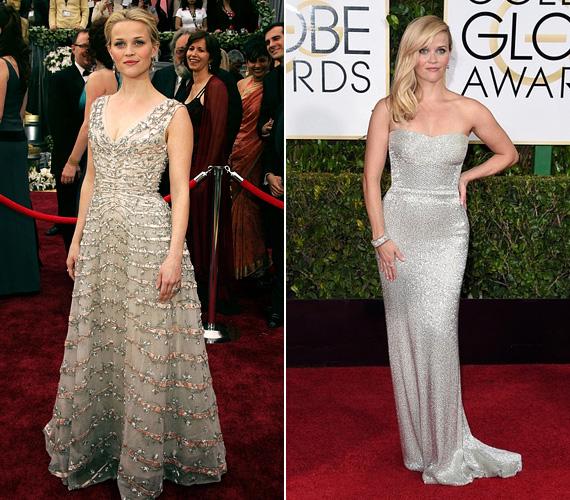 Csillogás és pompa, a neves filmes gálákra ez illik: a 2006-os Oscar egyik legszebbje volt ebben a fémszálakkal átszőtt estélyiben, de az idei Golden Globe-on is királynői volt a megjelenése.