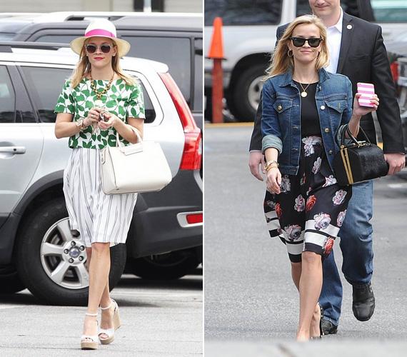 Az utcán is megfordul utána mindenki, amikor nőies szettjeiben elvonul - általában virágos ruhákat és csinos táskákat visel, de szereti kombinálni a romantikusat és a vagányat, ahogy az a farmerkabátos összeállításon is látszik.