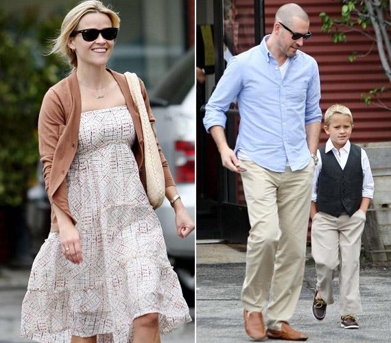 Férjével és kisfiával a vasárnapi istentiszteletről tartottak haza - láthatóan vidám hangulatban.