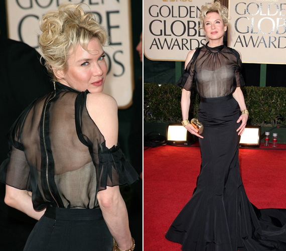 2009-ben, a 66. Golden Globe-gálán ismét kissé teltebben mutatkozott.