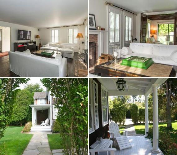 A szobák berendezésében a fehér és a természetes színek az uralkodóak, az ablakokból a gyönyörű zöld fákra látni rá.