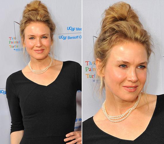 A 44 éves színésznő csak minimális sminket viselt az eseményen.