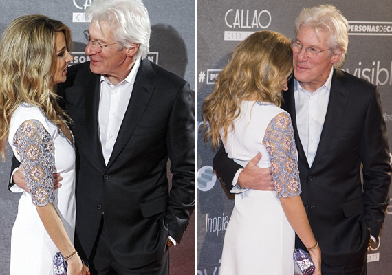 Le sem bírták venni a kezüket egymásról a vörös szőnyegen, folyton ölelkeztek vagy fogták egymás kezét, olyanok voltak, mint két szerelmes kamasz.