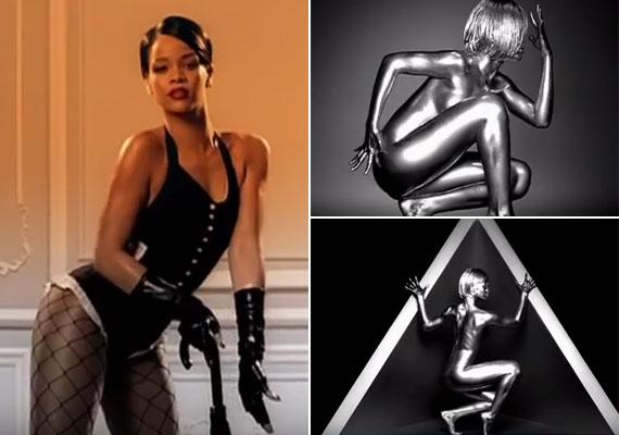 Rihanna Umbrella című slágere 2007-ben debütált, akkor az énekesnő csupán 19 éves volt. A videoklipben fiatal kora ellenére olyan természetesen és szexin mozog, mintha mindig is ezt csinálta volna. Még az sem okozott neki gondot, hogy teljesen meztelenül vagy éppen egy szexi domina jelmezben mutassa meg magát.