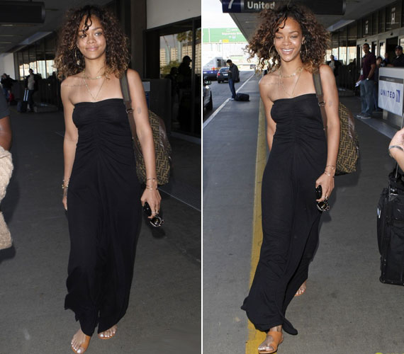 A fekete ruha kicsivel többet sejtet a kelleténél az énekesnő formáiból, de ő cseppet sem zavartatta magát.