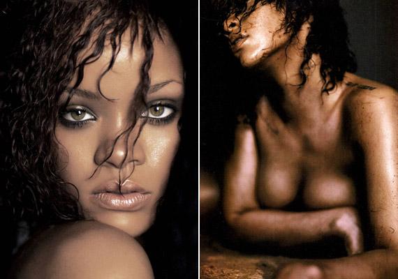 Bár eltakarja intim testrészeit, a fotók sokat sejtetnek.