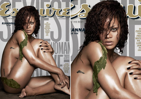 Rihanna a novemberi Esquire címlapján pózolt.