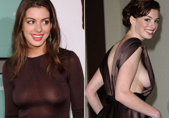 Lesifotósok hada szurkolt a 2012-es Abbott Awardson, hogy Anne Hathawaynek csak egy kicsit csússzon el a ruhája, pedig nem az első eset lett volna, hogy villant.