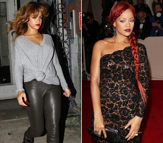 Rihanna nem fél a drasztikus imázsváltástól: két hete még vörös hajkoronával hódított, tegnap már eredeti, barnás hajszínével kapták lencsevégre.