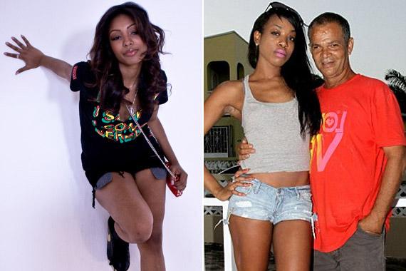 A vadóc Wynta Nuvo Rihanna édesapjával, Ronald Fenty-vel is lefotózkodott Barbadoson.