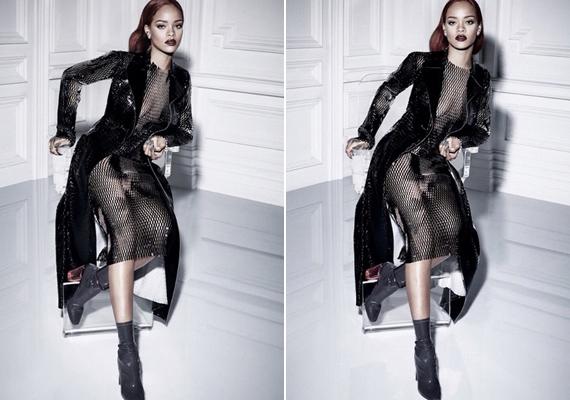 Rihanna láthatóan nagyon jól érezte magát a fotózás alatt, és a képekkel is rendkívül elégedett volt. Alig bírta kivárni, hogy megoszthassa rajongóival is az elkészült fotókat.