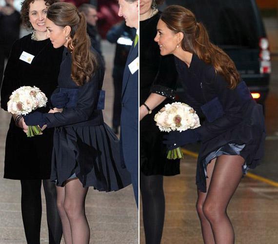 Még Katalin hercegnővel is előfordul, hogy többet mutat, mint amennyit szeretne.