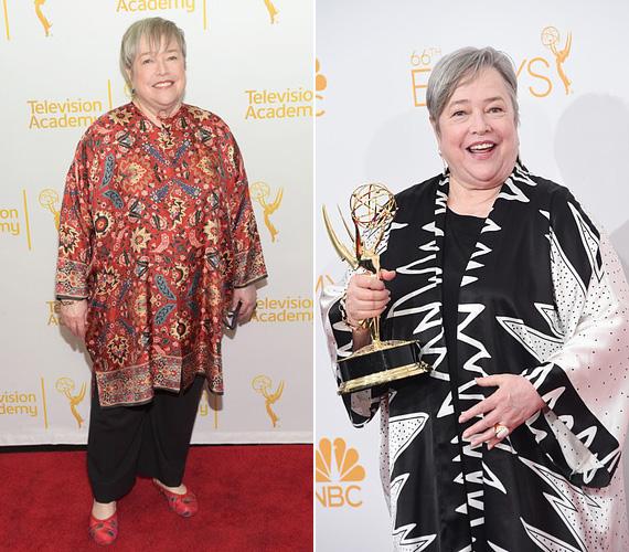 """Kathy Bates Oscar-díjas színésznő jó tíz évvel ezelőtt megküzdött a petefészekrákkal, de 2012-ben, 64 éves korában mellrákot találtak nála. Nem sokáig várt a melleltávolító műtéttel, még abban az évben megoperálták. """"Jobban hiányzik a kedvenc sorozatom a tévéből, mint a melleim. Köszönöm a kedves szavakat, nektek hála, még mindig itt vagyok"""", írta a Twitteren rajongóinak."""
