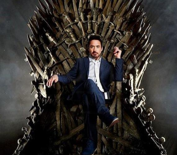 """A kép mellé azt írta: """"Stark is finally king"""" - Stark végre király. Mint ismert, a Trónok harca főszereplői a Starkok, valamint neki is ez a neve a Vasemberben."""