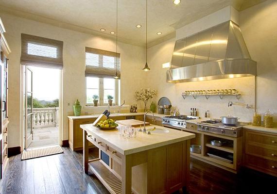 A hatalmas konyha elsődleges követelmény volt lakáskereséskor, a színész ugyanis szerette volna gyakorta vendégül látni három gyermekét.