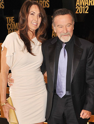 Susan Schneider és Robin Williams
