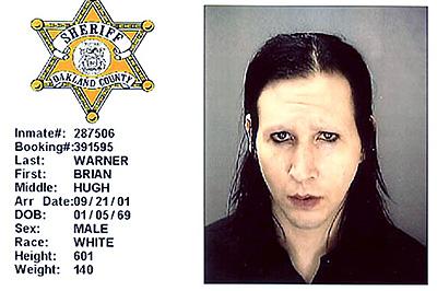 Marilyn Manson (a vád: tettlegesség, zaklatás)