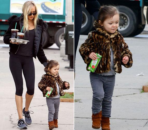 A tündéri kislány Rod Stewart első unokája.