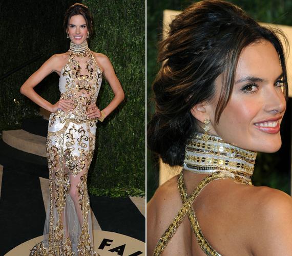 Alessandra Ambrosio egyáltalán nem volt szégyenlős, áttetsző ruhában parádézott.