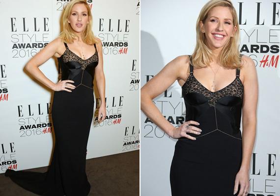 A Love Me Like You Do énekesnője, Ellie Goulding egyik kedvenc színébe, feketébe öltözött. A csipkés mellrésszel díszített estélyit egy arany ékszerrel dobta fel.