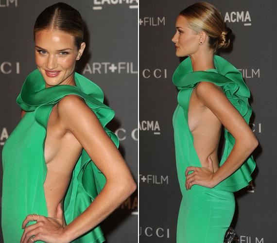 A LACMA-gálán ebben a zöld Gucciban jelent meg, mely szintén nem sokat bízott a fantáziára.