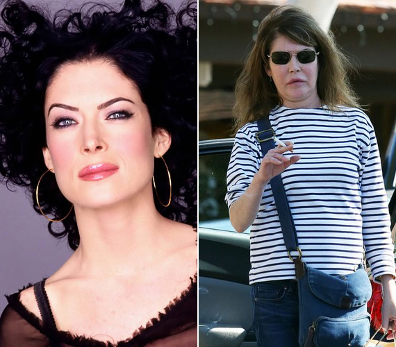 A négy most összegyűjtött plasztikai rémség közül Lara Flynn Boyle a legfiatalabb, bár arcán nem látszik, hogy még csak 47 éves. Brutálisan szétszabták az orvosok, az ember a legnagyobb igyekezettel sem tudja felfedezni vonásaiban az egykori szépséget, aki a Twin Peaks Donnájának szerepe révén még rengeteg pasi vágyálmaiban bukkant fel a kilencvenes években.