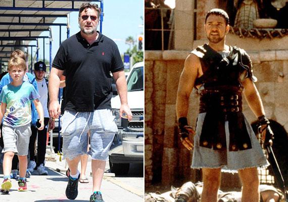A színész 16 éve játszotta el egyik leghíresebb szerepét a Gladiátor című filmben. Akkoriban még elképesztően jól nézett ki, látszott, hogy sokat készült a szerepre az edzőteremben. Ez mára elveszett, bő pólóban és mackónadrágban sétál az utcákon.