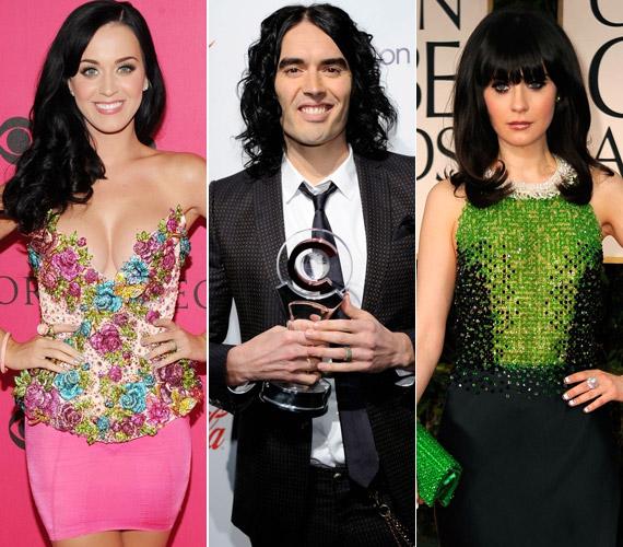 Talán csak Russell Brand számára nem furcsa, hogy leendő exneje, a bal oldali képen látható Katy Perry és új kiszemeltje, a jobb oldali fotón lévő Zooey Deschanel a megtévesztésig hasonlítanak egymásra.