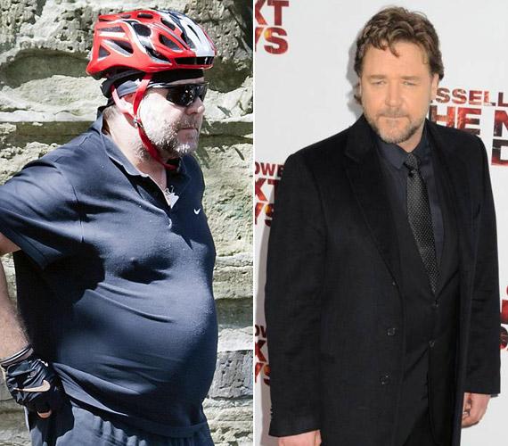 A rajongók is elcsodálkoztak Russell Crowe fogyásán.